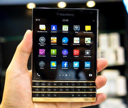 Blackberry Passport mạ vàng 24k