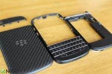 Bộ vỏ blackberry q10 full đen trắng
